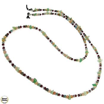 Връзка за очила от естествени камъни Авантюрин и Ахат - DM-1071