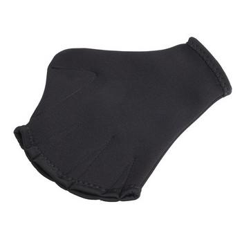 Ръкавици за плуване - ръчни плавници с 2мм дебелина и надпис в черен цвят