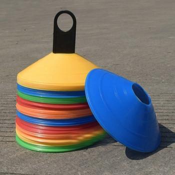 Комплект от 10 броя пластмасови тренировъчни дискове за футбол в различни цветове