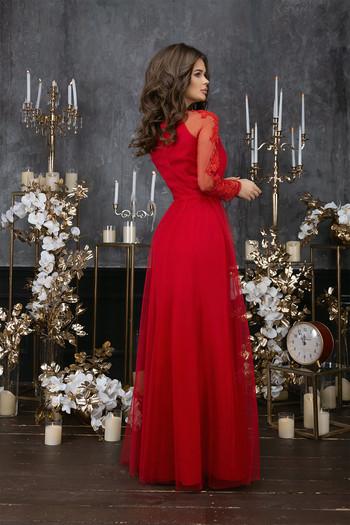 Дълга рокля от мрежа