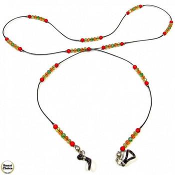 Връзка за очила от естествени камъни Червен корал - DM-1076
