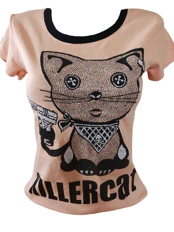 Дамска тениска Killer Cat