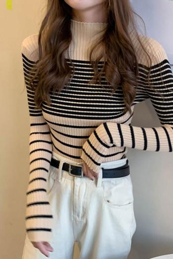 Дамска ежедневна блуза втален модел в три цвята