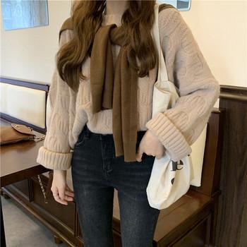 Ежедневен дамски пуловер в два цвята