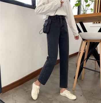 Ретро дамски дънки с висока талия - прав модел
