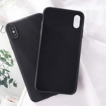 Водоустойчив едноцветен силиконов калъф за Iphone XS