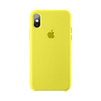 Оригинален удароустойчив калъф за Iphone XS в жълт,син,червен,зелен,розов и черен цвят