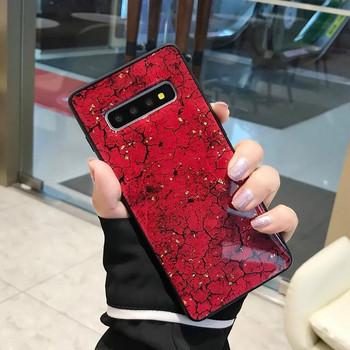 Модерен силиконов калъф с лъскави частици за Samsung S10
