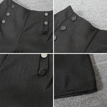 Модерни дамски къси панталони с копчета и висока талия