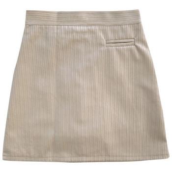 Изчистен модел дамска пола с висока талия от рипсено кадифе