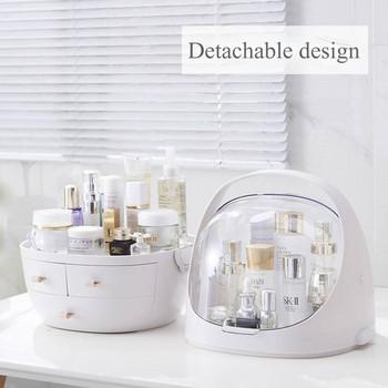 Водоустойчива и прахоустойчива кутия с три чекмеджета за гримове и тоалетни принадлежности подходяща за баня