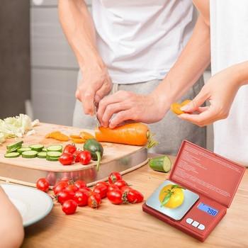 Прецизна кухненска везна с капак, LCD дисплей и седем различни единици за измерване