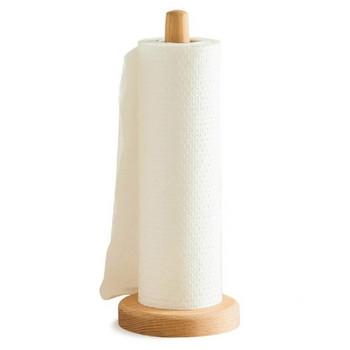 Дървена стойка за кухненска хартия с размери 32х12см