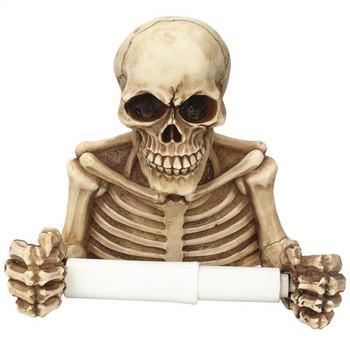 Ретро поставка за кухненска хартия с дизайн на скелет