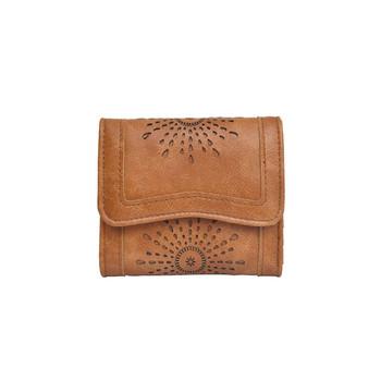 Καθημερινό γυναικείό έκο δερμάτινο πορτοφόλι  με κέντημα