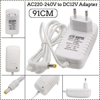 DC 12V 2A LED адаптер - трансформатор за захранване на домакинска електроника
