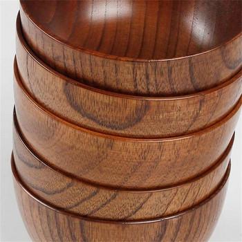Дървена купа подходяща за супа с размер 9.5х6.5см