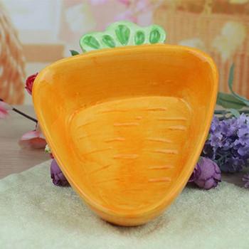 Керамична чиния във формата на морков подходяща за съдомиялна машина и микровълнова фурна