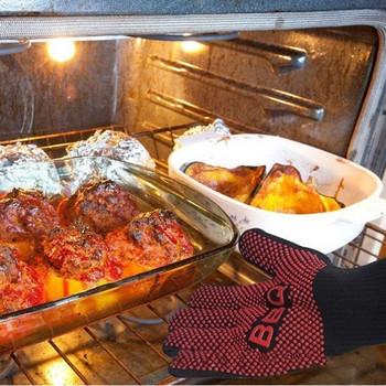 Силиконова ръкавица за барбекю с топлоустойчивост до 350 ℃