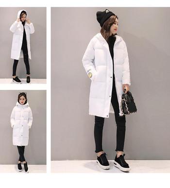 Семпло дълго дамско яке с апликация усмивка в различни цветове